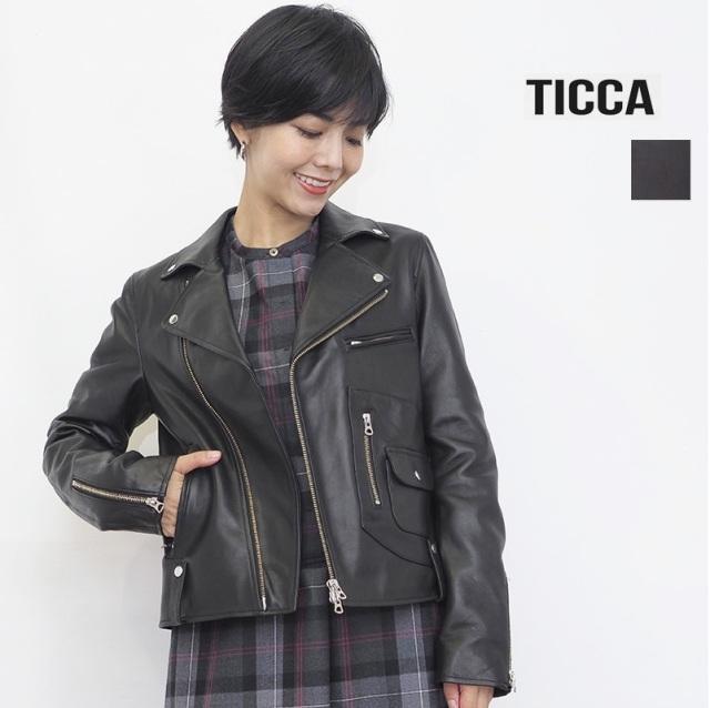 【再入荷】【21AW新作】TICCA ティッカ TBAS-191 ダブルライダースジャケット | アウター 春夏 21SS/21AW
