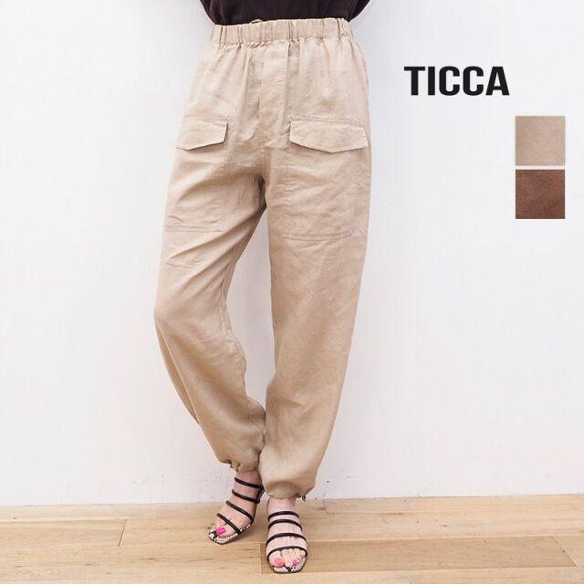 4/21販売開始【21SS新作】TICCA ティッカ TBAS-408 リネン ミリタリーパンツ カーゴパンツ | ボトムス 春夏 21SS