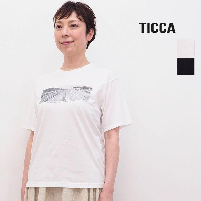 4/21販売開始【21SS新作】TICCA ティッカ TBAS-444 Road プリントTシャツ   トップス 春夏 21SS