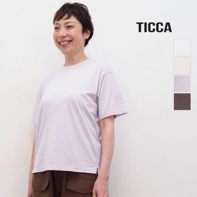 4/21販売開始【21SS新作】TICCA ティッカ TBAS-463 エンブロイダリーTシャツ | トップス 春夏 21SS