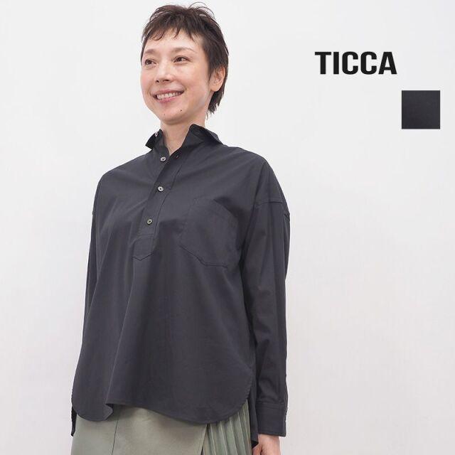 【20AW新作】TICCA ティッカ TBKA-161 スクエアビッグシャツプルオーバー  ブラック | 20AW トップス 秋冬