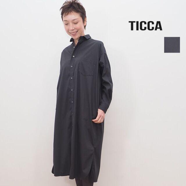 TICCA ティッカ TBKA-163 スクエアビッグロングシャツ シャツワンピース | 20AW トップス 秋冬