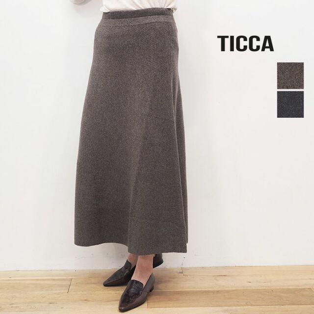【40%OFF】TICCA ティッカ TBKA-344 フレアロングスカート ウール | 20AW ボトムス 秋冬