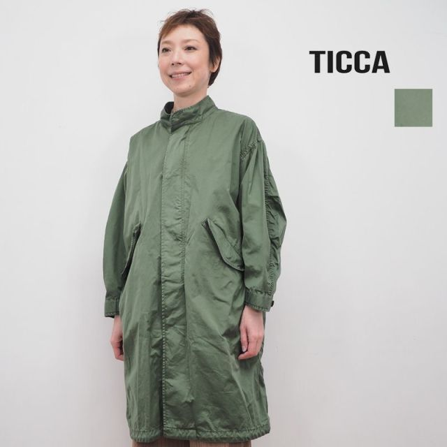★【20SS新作】TICCA ティッカ TBKS-141 ライトミリタリーコート | 20SS アウター 春夏