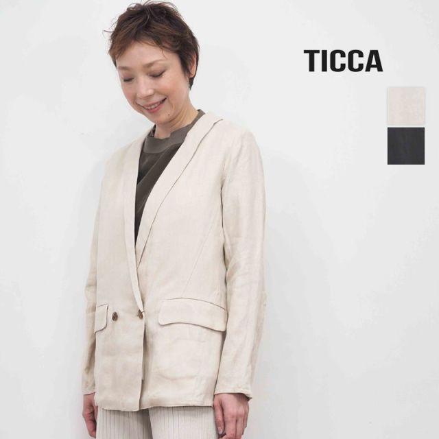 ★【20SS新作】TICCA ティッカ TBKS-171 リネンジャケット | 20SS アウター 春夏