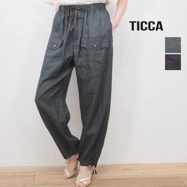 【20SS新作】TICCA ティッカ TBKS-611 リネン ミリタリーパンツ | 20SS ボトムス 春夏