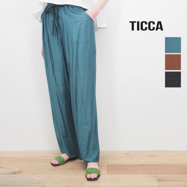 ★【20SS新作】TICCA ティッカ TBKS-623 ドローストリングパンツ イージーパンツ | 20SS ボトムス 春夏