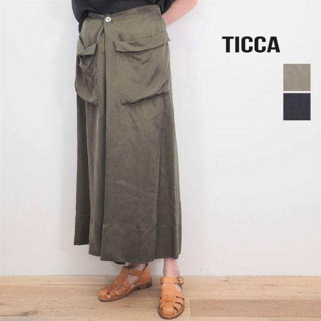 【20SS新作】TICCA ティッカ TBKS-631 タックギャザースカート   20SS ボトムス 春夏