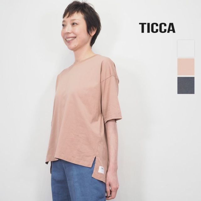 【20SS新作】TICCA ティッカ TBKS-665 コットンムジTシャツ カットソー | 20SS トップス 春夏