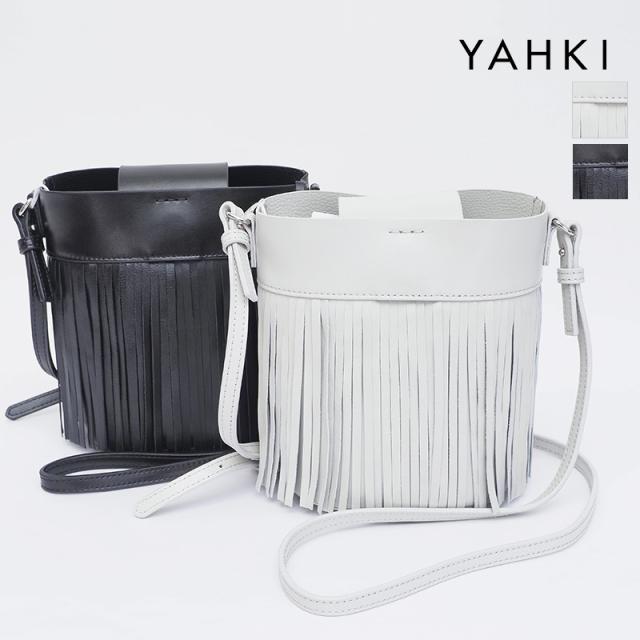 【21AW新作】YAHKI ヤーキ YH-408 レザーフリンジショルダーバッグ ポシェット   21AW バッグ 秋冬