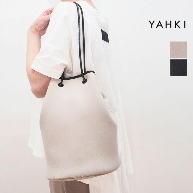 3/15販売開始【21SS新作】YAHKI ヤーキ YH-393 ラウンド巾着型ネオプレンバッグ 大 トートバッグ ショルダーバッグ | 21SS バッグ 春夏
