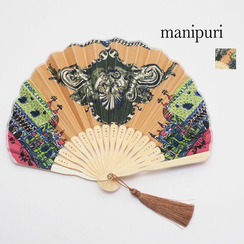 manipuri マニプリ 扇子 街並み ピンク 0101675006 CITY PINK センス せんす 浴衣 着物 和雑貨 | 20SS ライフスタイル雑貨 春夏