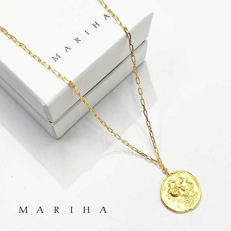 【21AW新作】MARIHA マリハ ネックレス Ancient Memories Athena/Warrious アテナ/ウォーリアス レクタングル 60cm 1602211019 シルバー925/18金メッキ | アクセサリー 21AW