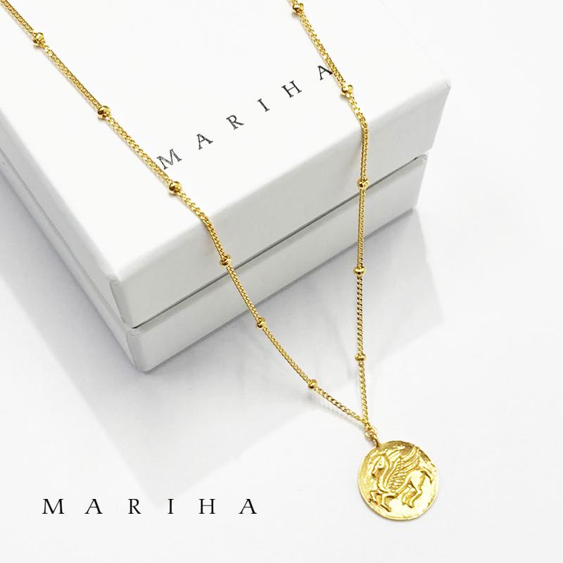 【21AW新作】MARIHA マリハ ネックレス Ancient Memories Pegusus ペガサス  スタッド 62cm 1602211007 シルバー925/18金メッキ | アクセサリー 21AW