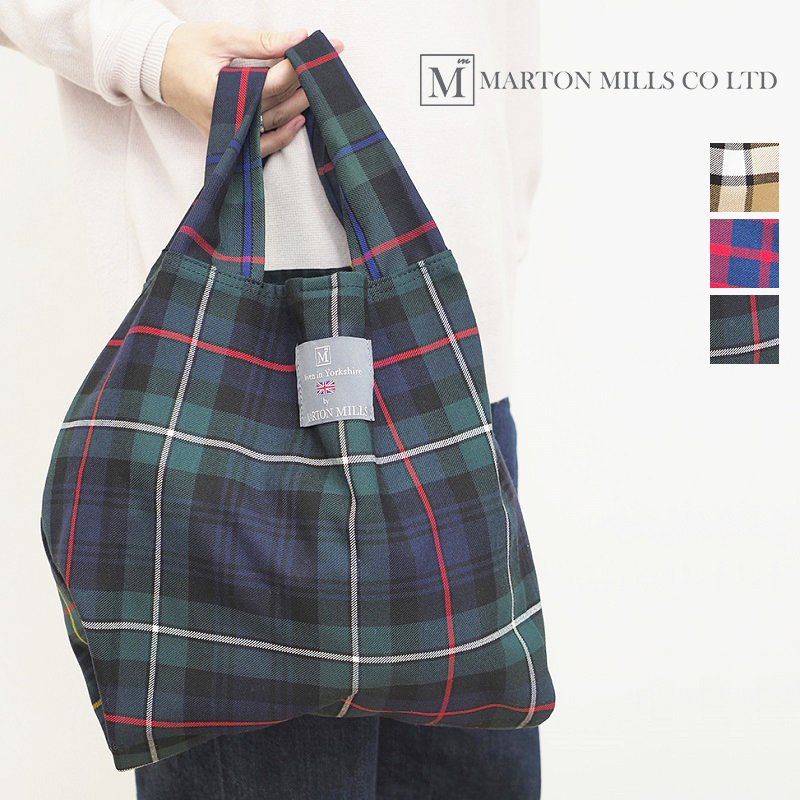 【21AW新作】MARTON MILLS マートンミルズ チェックトートバッグ パッカブルバッグ エコバッグ ショッピングバッグ SHOPPING BAG PACKABLE | 21AW バッグ 秋冬