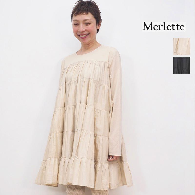 【21SS新作】Merlette マーレット SOLIMAN DRESS コットンティアードミニワンピース チュニックドレス 3310300031/9910300018