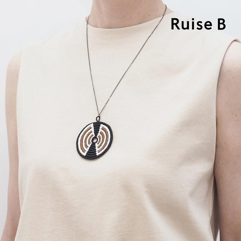 【ゆうパケット可】色柄豊富◆Ruise B ルイズビー ルワンダ モチーフネックレス ハンドメイド RWAC-N SEN/HOS/SOR/KIB | 20SS ネックレス 春夏