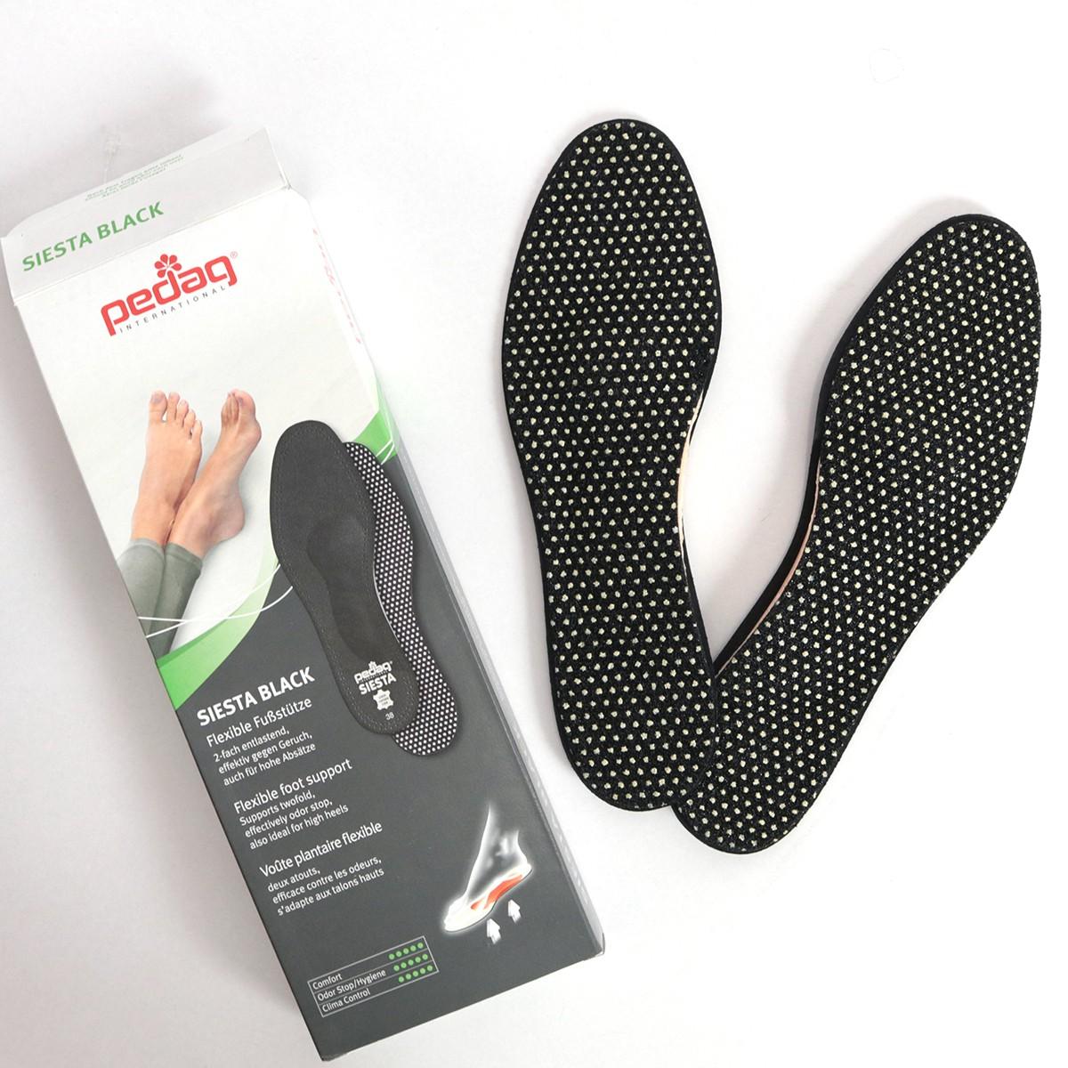 PEDAQ ペダック SIESTA シエスタ ブラック 靴ケア用品 インソール アーチサポート