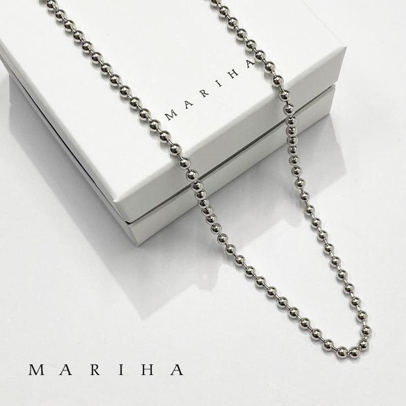 【21AW新作】MARIHA マリハ ネックレス Silent Rain ボールチェーンネックレス 60cm 1602202033 シルバー925 | アクセサリー 21AW