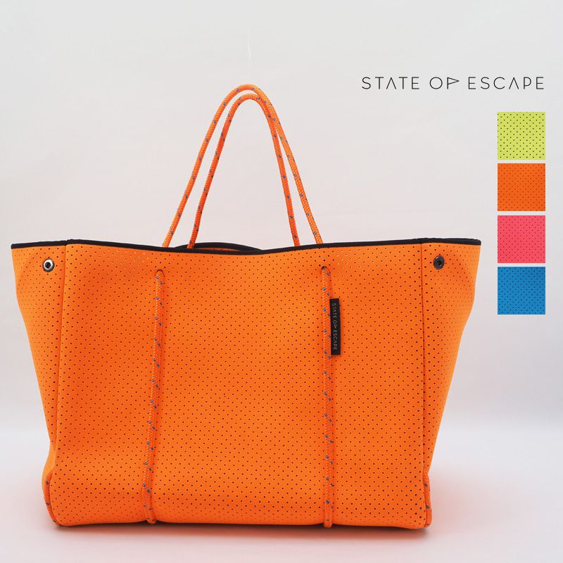 【20SS新作】【正規品】STATE OF ESCAPE ステイトオブエスケープ  ESCAPE CARRYALL NEON エスケープキャリーオール  ネオン トートバッグ ビーチバッグ ジムバッグ マザーバッグ | 20SS