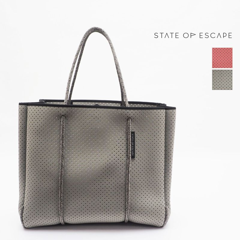 【20SS新作】【正規品】STATE OF ESCAPE ステイトオブエスケープ Flying Solo-Chacoal フライングソロ トートバッグ SAGE GREEN セージグリーン BARMUDA サーモンピンク|ジムバッグ マザーバッグ ロンハーマン取り扱いブランド | 20SS