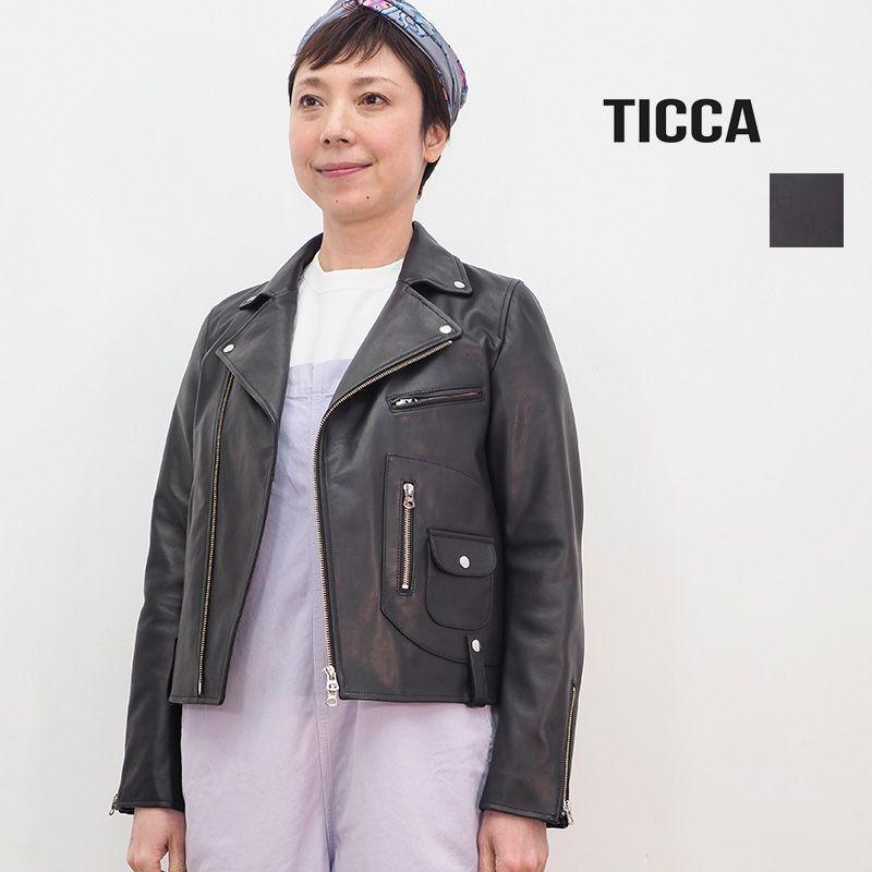 2/13販売開始【21SS新作】TICCA ティッカ TBAS-191 ダブルライダースジャケット | アウター 春夏 21SS