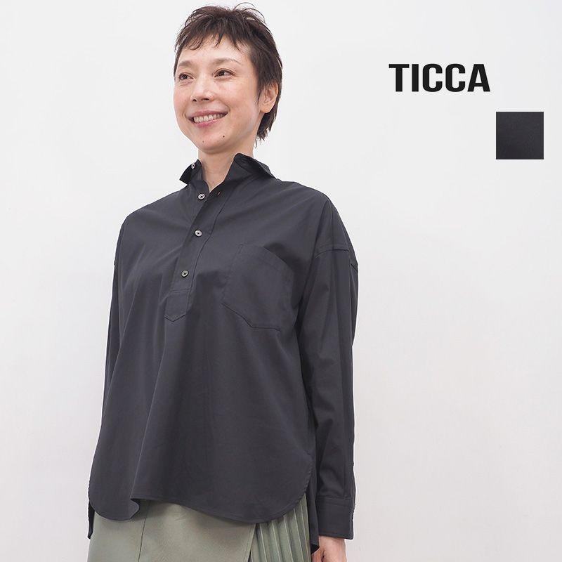 TICCA ティッカ TBKA-161 スクエアビッグシャツプルオーバー  ブラック | 20AW トップス 秋冬