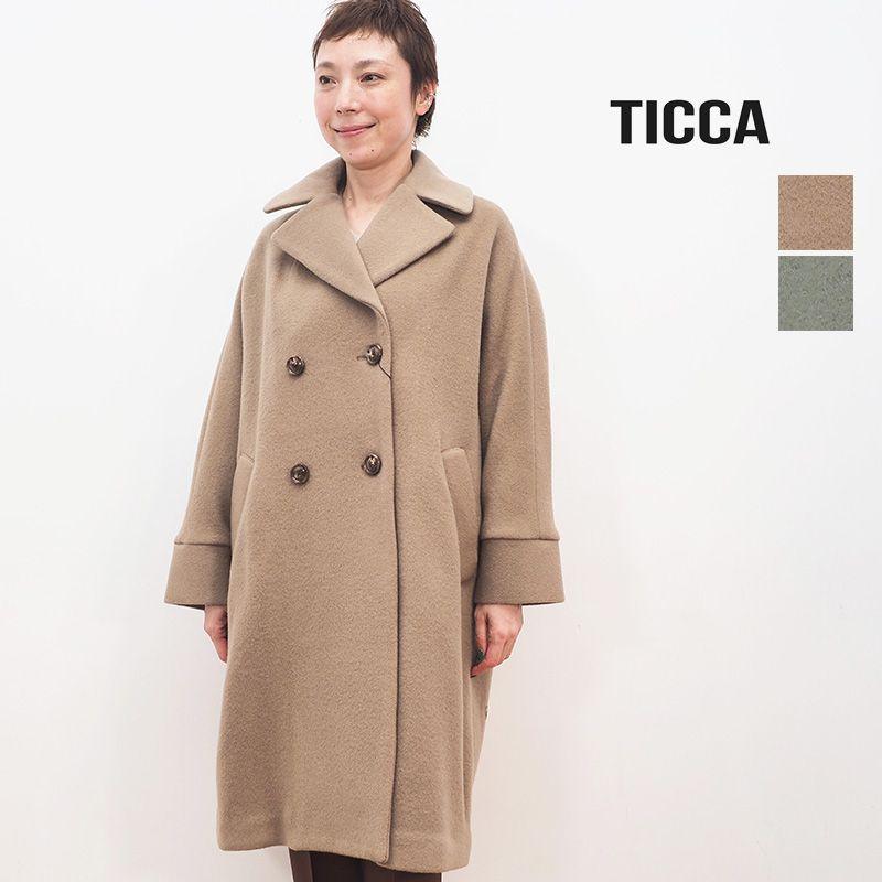 【20AW新作】TICCA ティッカ TBKA-272 ウールテントコート ピーコート   20AW アウター 秋冬