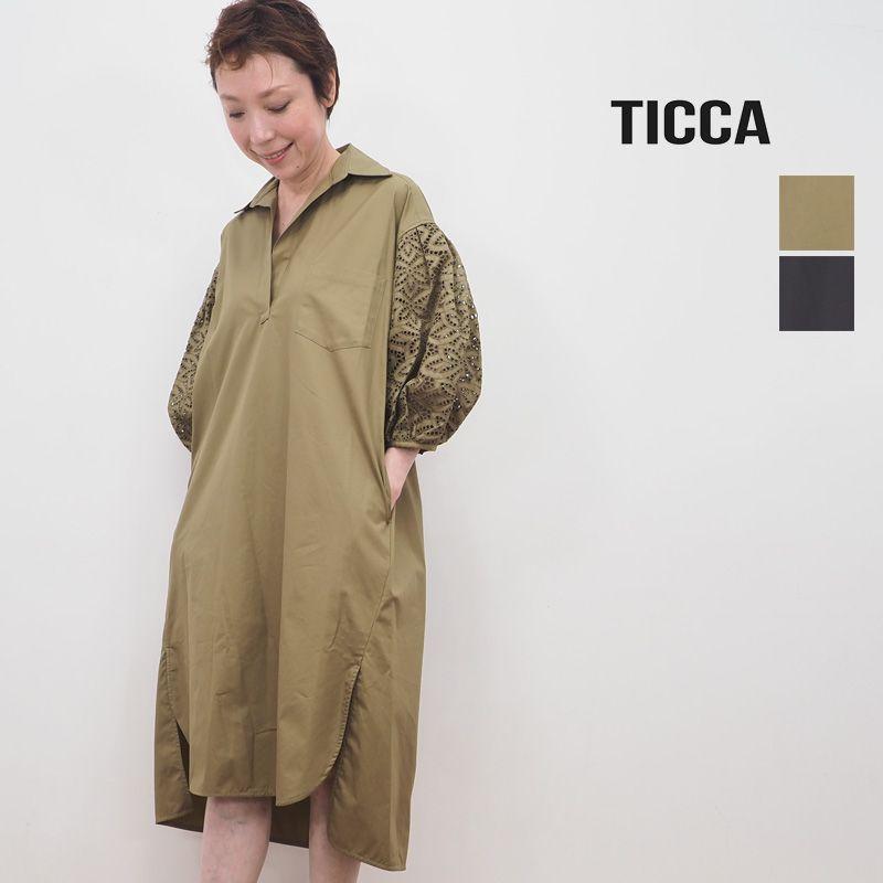 【20SS新作】TICCA ティッカ TBKS-082 レースパフスリーブワンピース | 20SS 春夏