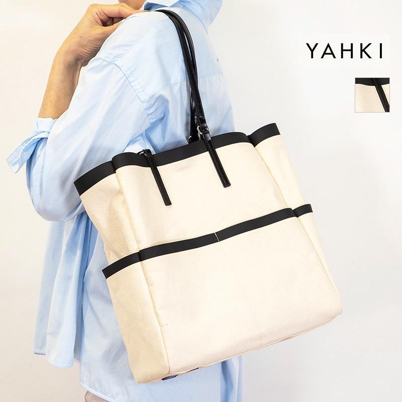 【21AW新作】YAHKI ヤーキ YH-405 TOTE BAG 2WAYキャンバストートバッグ | 21AW バッグ