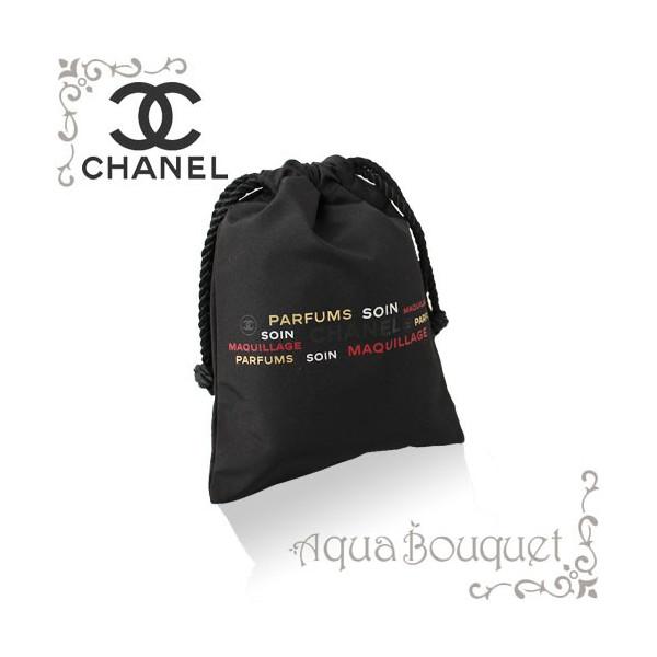 【ゆうパケット送料200円対応】シャネル CHANEL ミニ巾着 小物入れポーチ ブラック・ロゴカラー