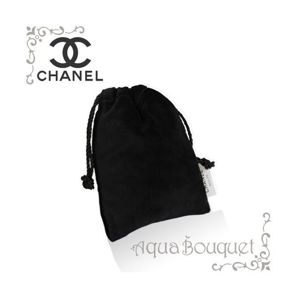 【ゆうパケット送料200円対応】シャネル CHANEL ミニ巾着 小物入れポーチ・ベロアブラック