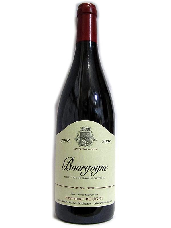[2008]ブルゴーニュ/エマニュエル・ルジェ BOURGOGNE/EMMANUEL ROUGET 赤 750ml
