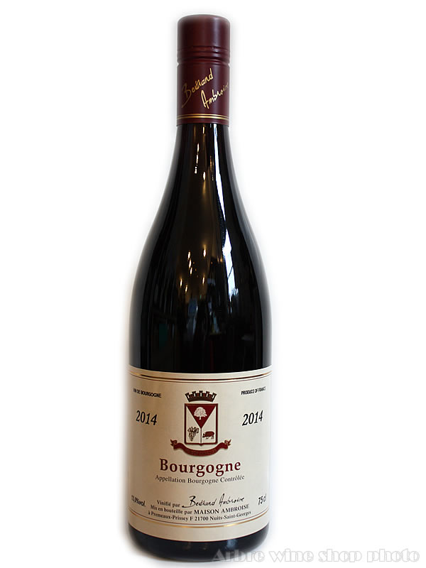 [2014]ブルゴーニュ ルージュ/ベルトラン アンブロワーズ Bourgogne Rouge/Bertrand AMBROISE 赤 750ml