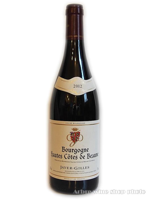 [2012]ブルゴーニュ オート・コート・ド・ボーヌ ルージュ/ジャイエ・ジル Bourgogne Hautes-Cotes de Beaune Rouge/JAYER-GILLES 赤 750ml