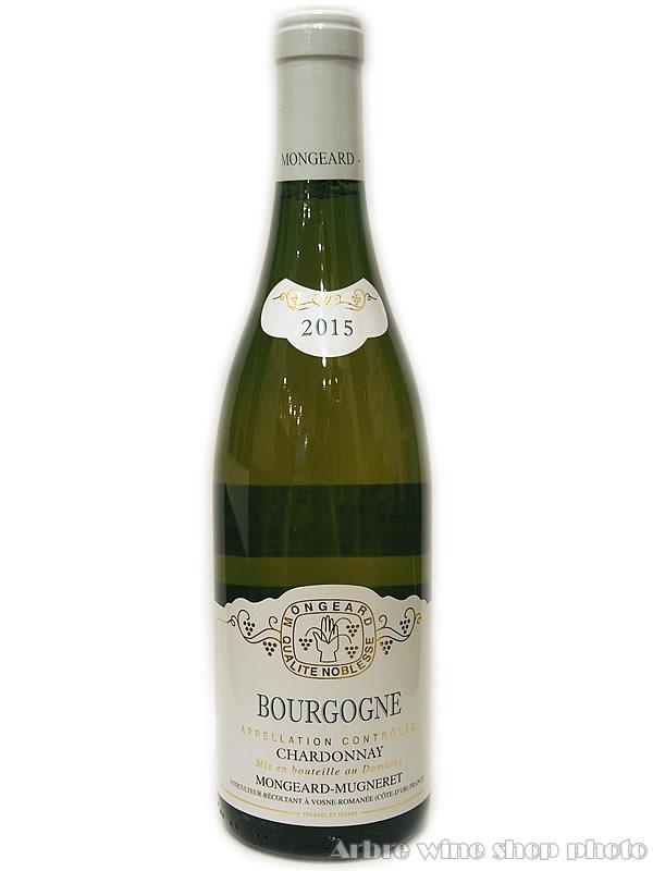 [2015]ブルゴーニュ シャルドネ/モンジャール・ミュニュレ Bourgogne Chardonnay/MONGERD-MUGNERET 白 750ml