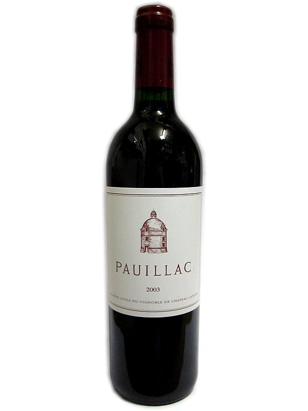 [2003]ポイヤック・デュ・ラトゥール PAUILLAC DE LATUR 赤 750ml