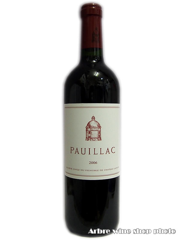 [2006]ポイヤック・デュ・ラトゥール PAUILLAC DE LATUR 赤 750ml