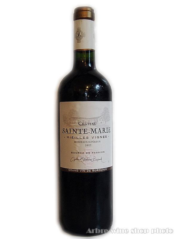[2012]シャトー・ サント マリー ヴィエイユ・ヴィーニュ ルージュ CH.Sainte-Marie Vieilles Vignes Rouge赤 750ml