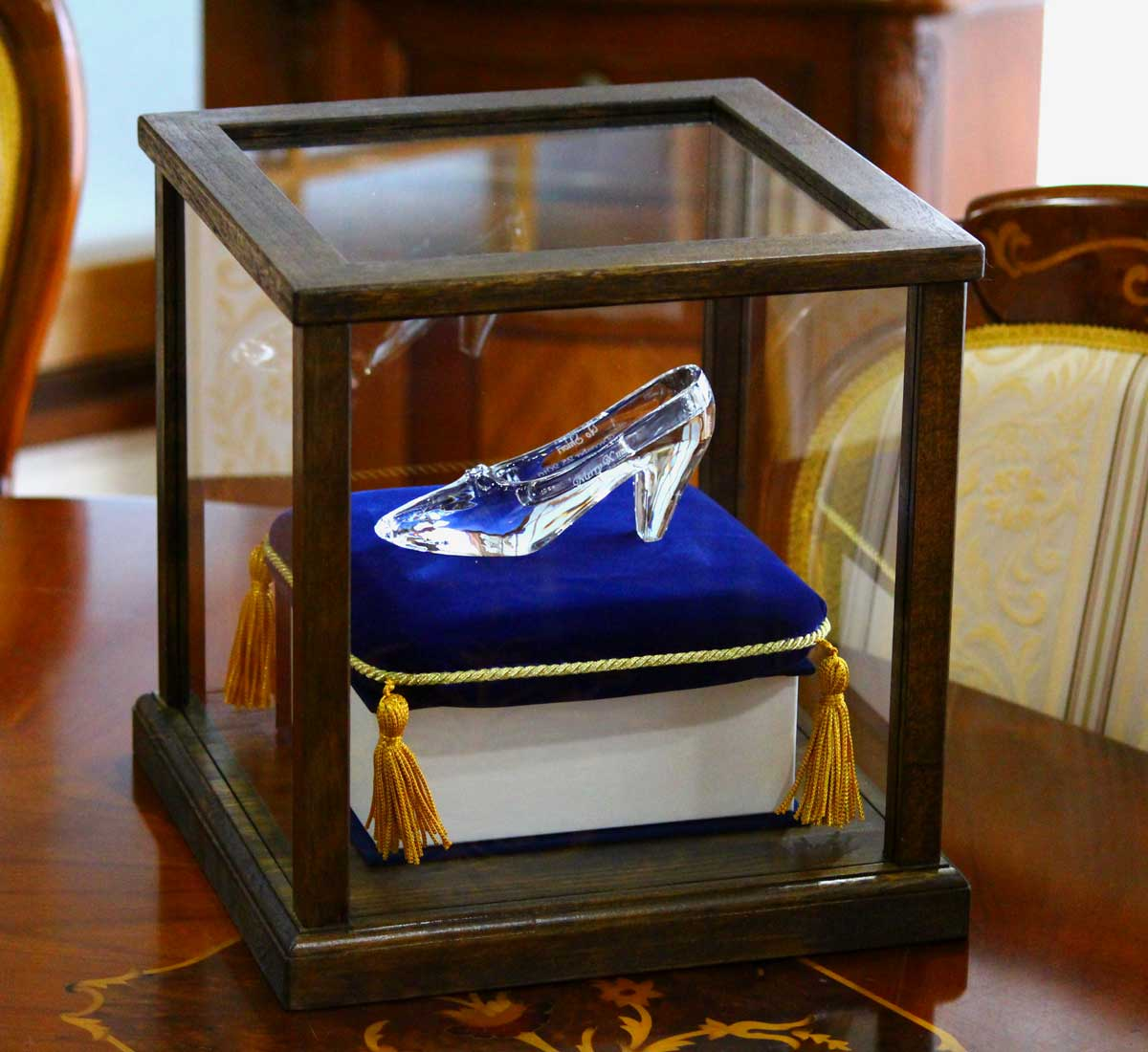 ガラスの靴 HappyGlassShoe 専用ディスプレイケース 木製バージョン