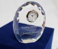 クリスタルクロック 名前入り 置時計