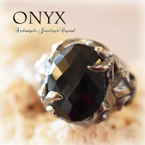 天然石 パワーストーン| オニキス リング アーキエンジェルズ
