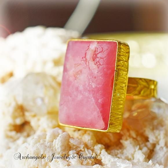 天然石 パワーストーン インカローズ デザイナーズジュエリー パワーストーンリング ファッションリング 指輪 アーキエンジェルズ