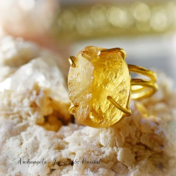 天然石 パワーストーン|シトリンクォーツ デザイナーズジュエリー パワーストーンリング ファッションリング 指輪