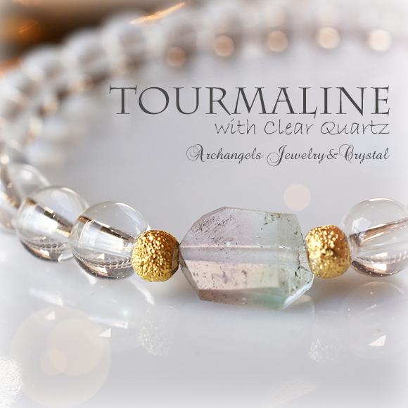 天然石 パワーストーン| 水晶 トルマリン ウォーターメロントルマリン パワーストーンブレスレット ブレスレット クリアクォーツ