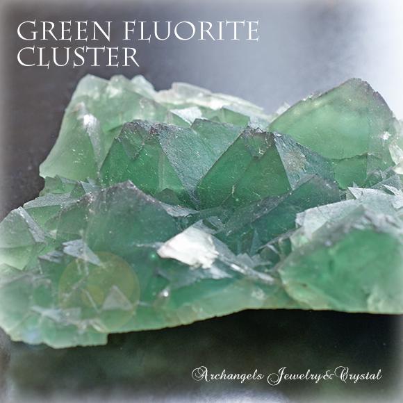 天然石 パワーストーン|グリーンフローライト フローライト 蛍石 原石 クラスター ヒーリング 癒やし アーキエンジェルズ