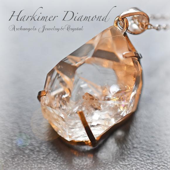 天然石 パワーストーン ハーキマー・ダイヤモンド・クリスタル ハーキマークリスタル 水晶 ペンダント アーキエンジェルズ