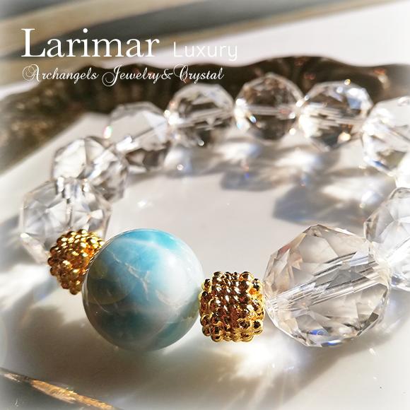 天然石 パワーストーン ラリマー クリアクォーツ 水晶 ブルーペクトライト ペクトライト ブレスレット