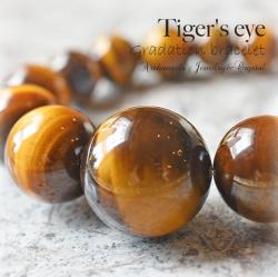 天然石 パワーストーン タイガーアイ 虎目石 Tiger's eye 商売繁盛 金運 幸運 財運 メンズ ユニセックス ブレスレット