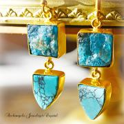 天然石 パワーストーン|アパタイト ターコイズ デザイナーズジュエリー パワーストーンピアス イヤリング アーキエンジェルズ